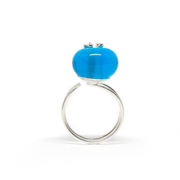 anillo loto azul